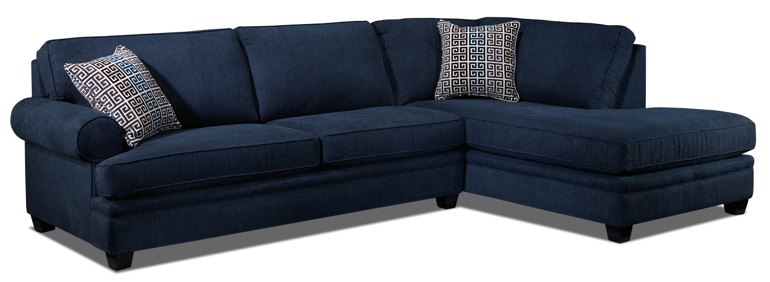 Well Liked Tammy 2 Piece Sectional With Left Facing Chaise – Blue (View 12 of 20)