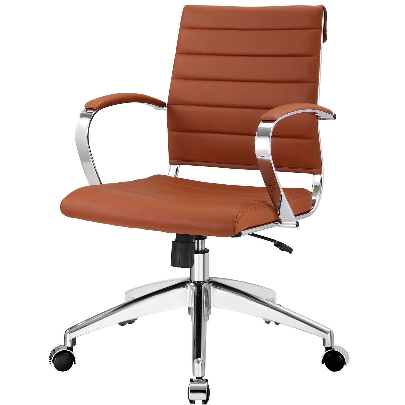 Well Liked Tan Brown Mid Back Executive Office Chairs With Jive Mid Back Office Chair, Terracotta Buy Online At Best Price (View 16 of 20)