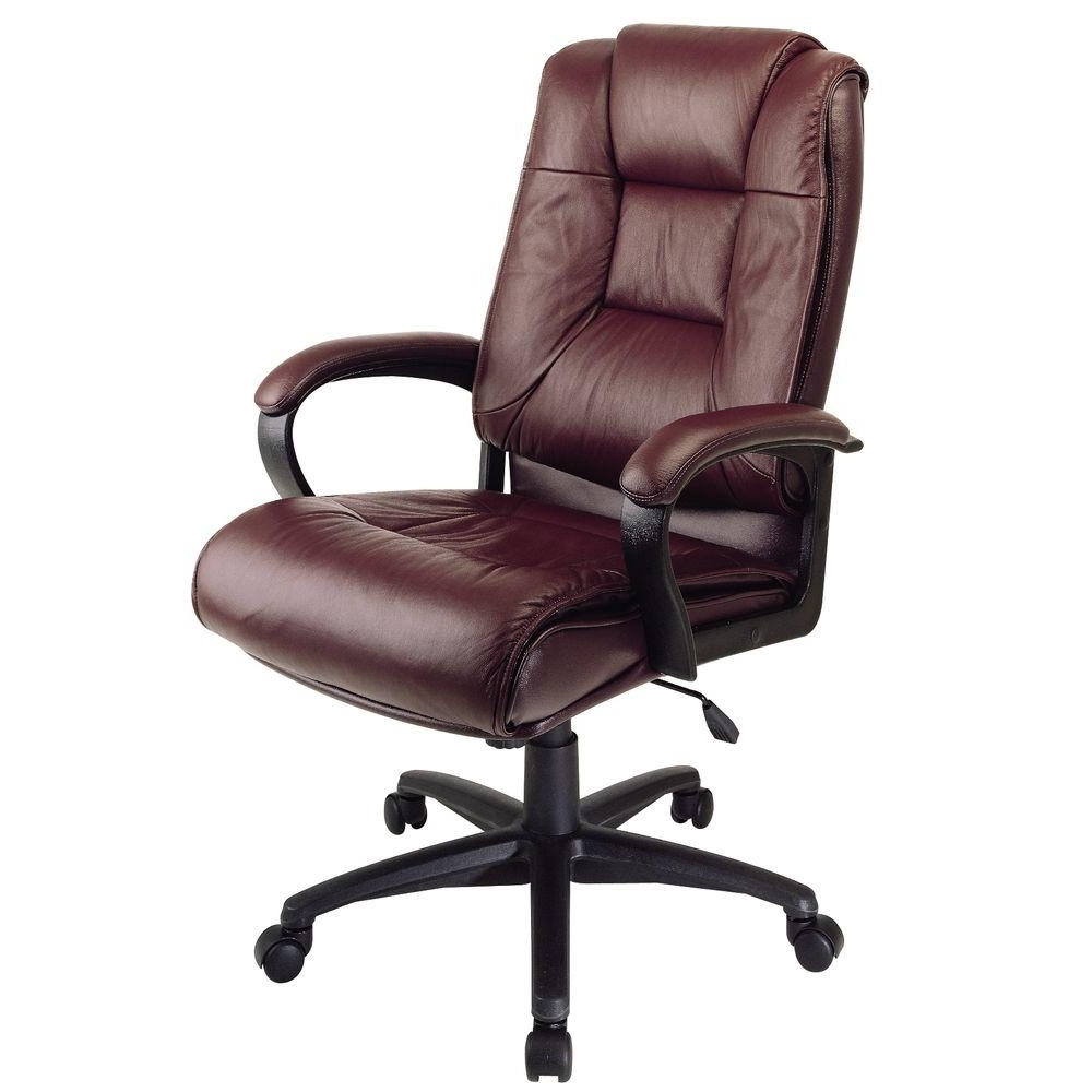Well Liked Tan Brown Mid Back Executive Office Chairs With Work Smart Black Leather High Back Office Chair Ex5162 G13 – The (View 7 of 20)