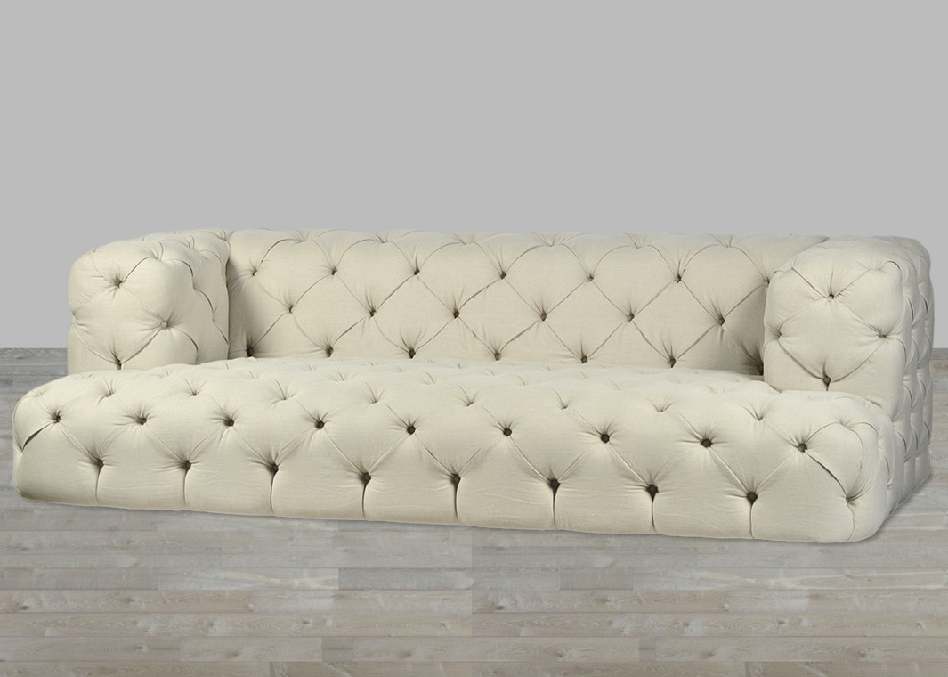 Well Liked Tufted Linen Sofas Inside Nottingham Sofa B (View 20 of 20)