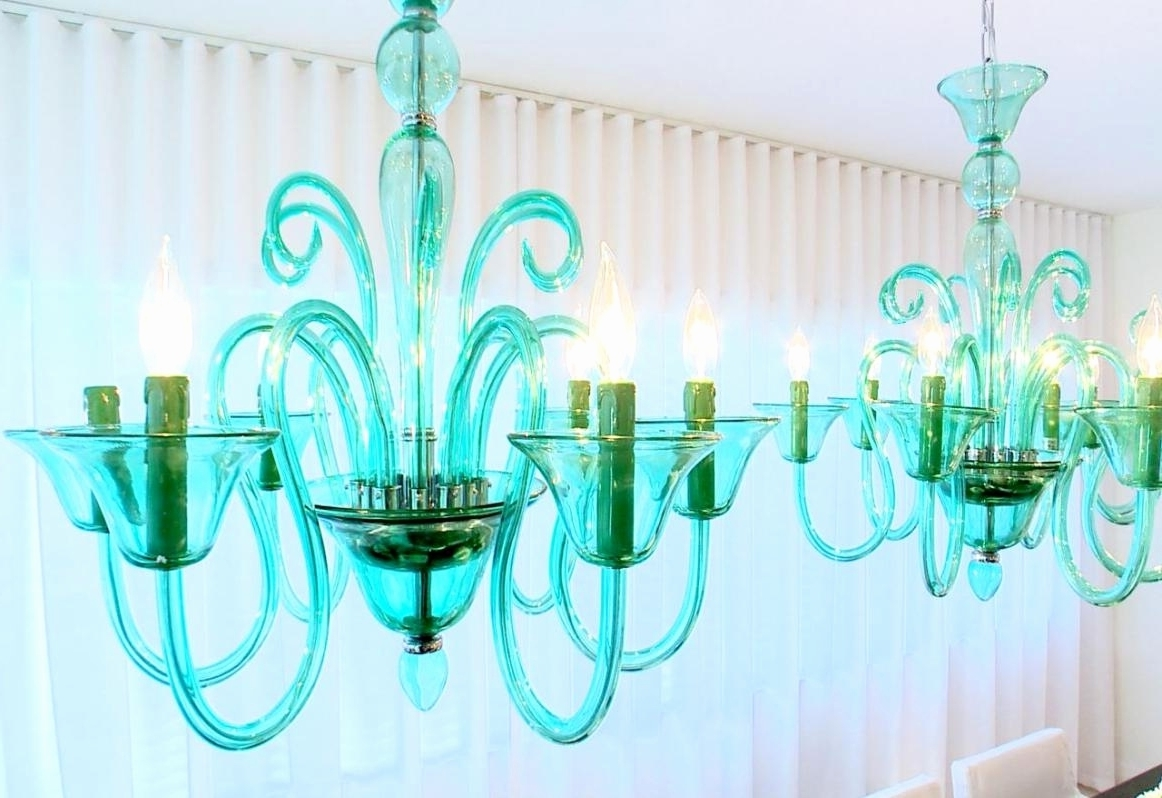 Well Liked Turquoise Blue Glass Chandelier – Chandelier Designs Within Turquoise Blue Chandeliers (View 19 of 20)