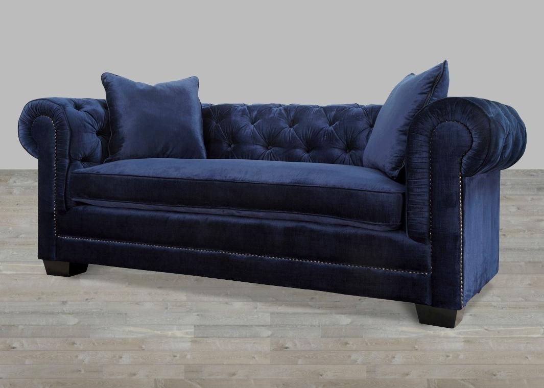 Well Liked Velvet Sofa With Nailheads Throughout Velvet Sofas (View 5 of 20)