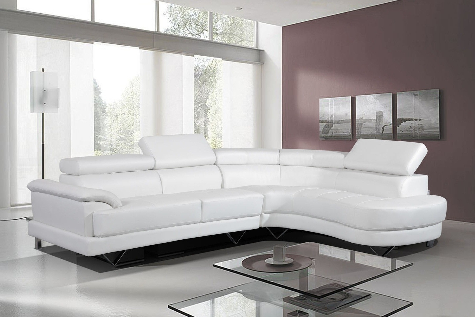 White Leather Corner Sofa Cheap | Catosfera.net