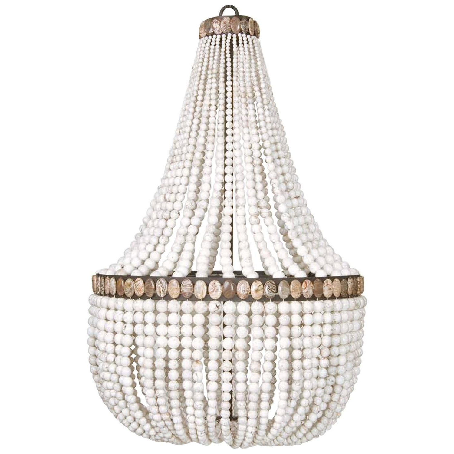 Well Liked White Turquoise Empire Chandeliermarjorie Skouras At 1stdibs Intended For Turquoise Stone Chandelier Lighting (View 9 of 20)