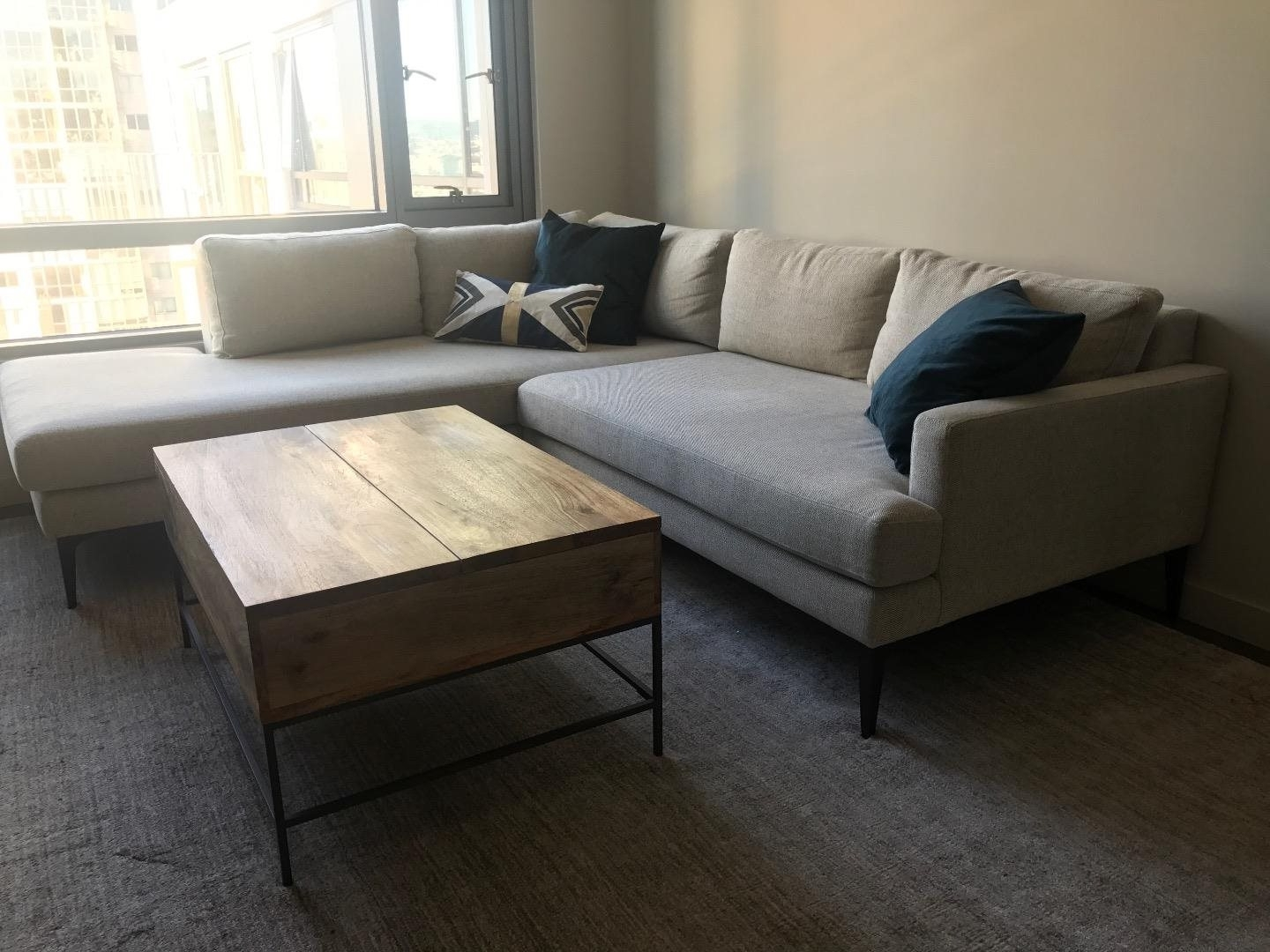 West Elm Andes Terminal Chaise Sectional Couch: For Sale In San Throughout Well Liked West Elm Sectional Sofas (View 13 of 20)