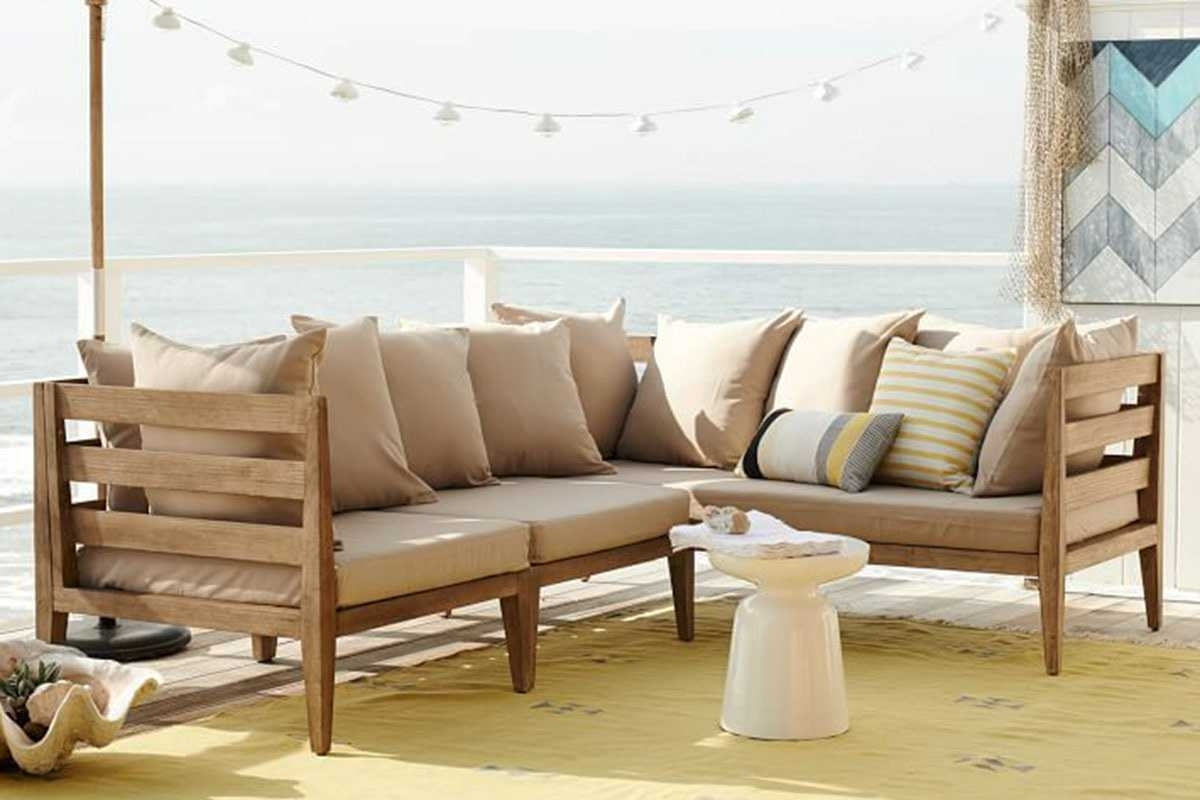 West Elm Sectional Sofas In Latest West Elm Patio Furniture With Outdoor Sectional Sofas For Gallery (View 14 of 20)