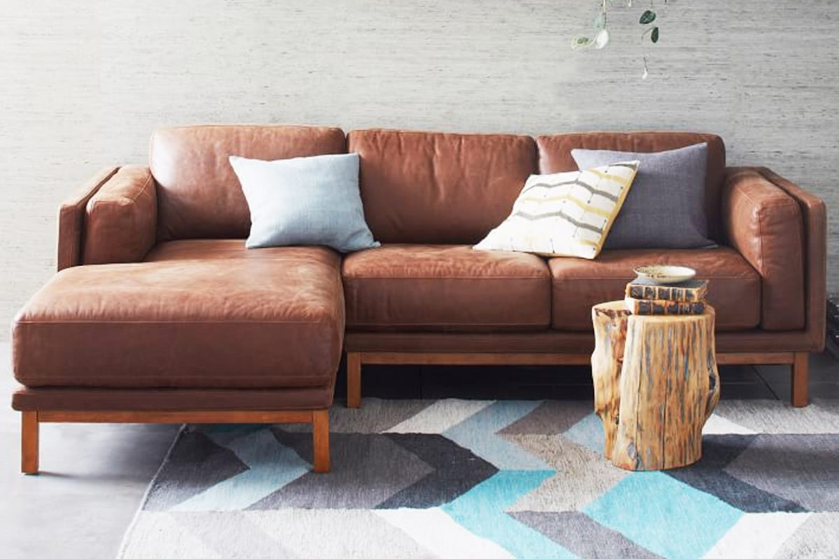 West Elm Sectional Sofas Intended For Most Up To Date 4 Modern Leather  Sectional Sofas For