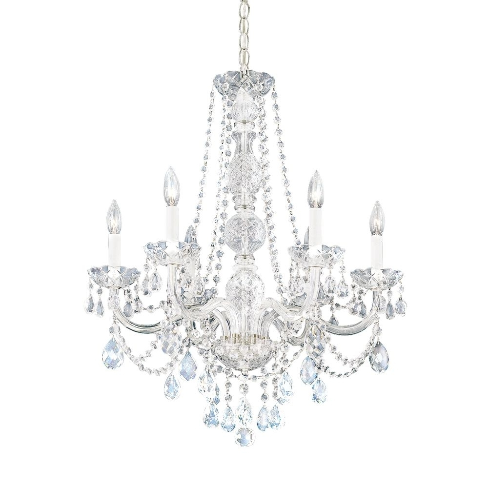 White And Crystal Chandeliers Pertaining To Most Recent White Crystal Chandelier – Chandelier Designs (View 10 of 20)