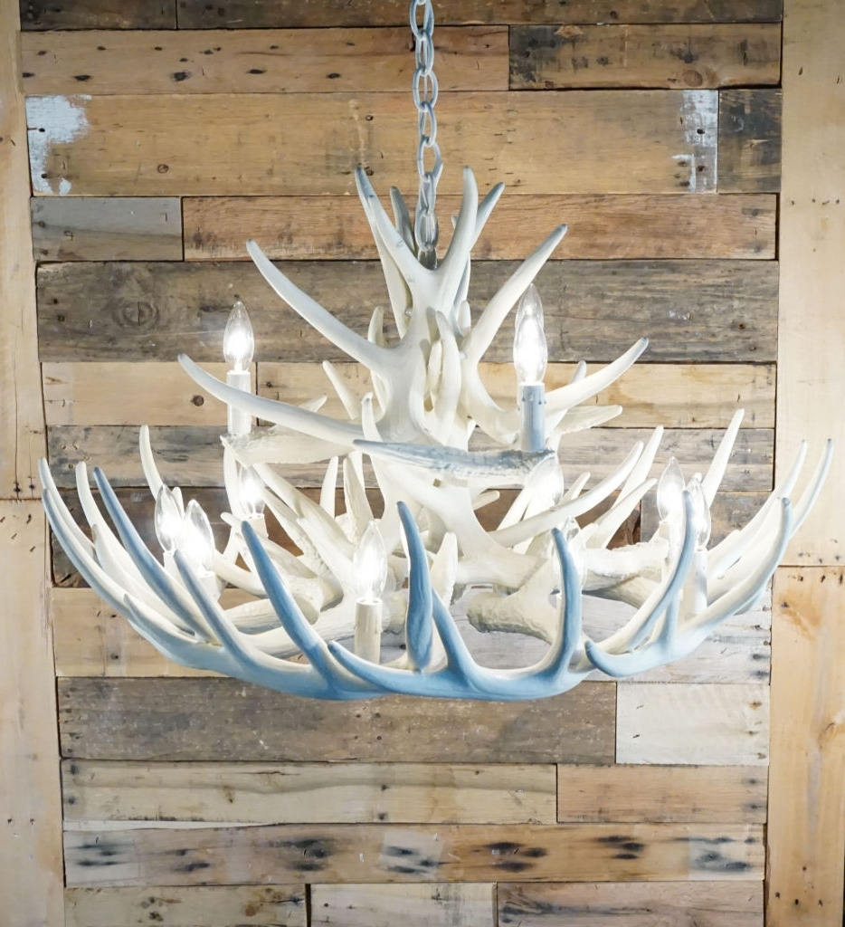 White Antler Chandelier Regarding Well Known Pure White Antler Lights (View 15 of 20)