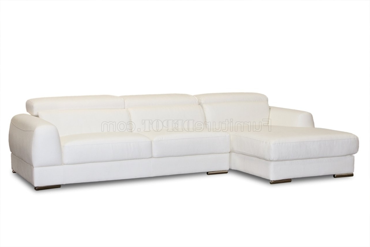 White Bonded Leather Modern Chicago Sectional Sofa Sectional Sofas Within Most Popular Sectional Sofas At Chicago (View 20 of 20)