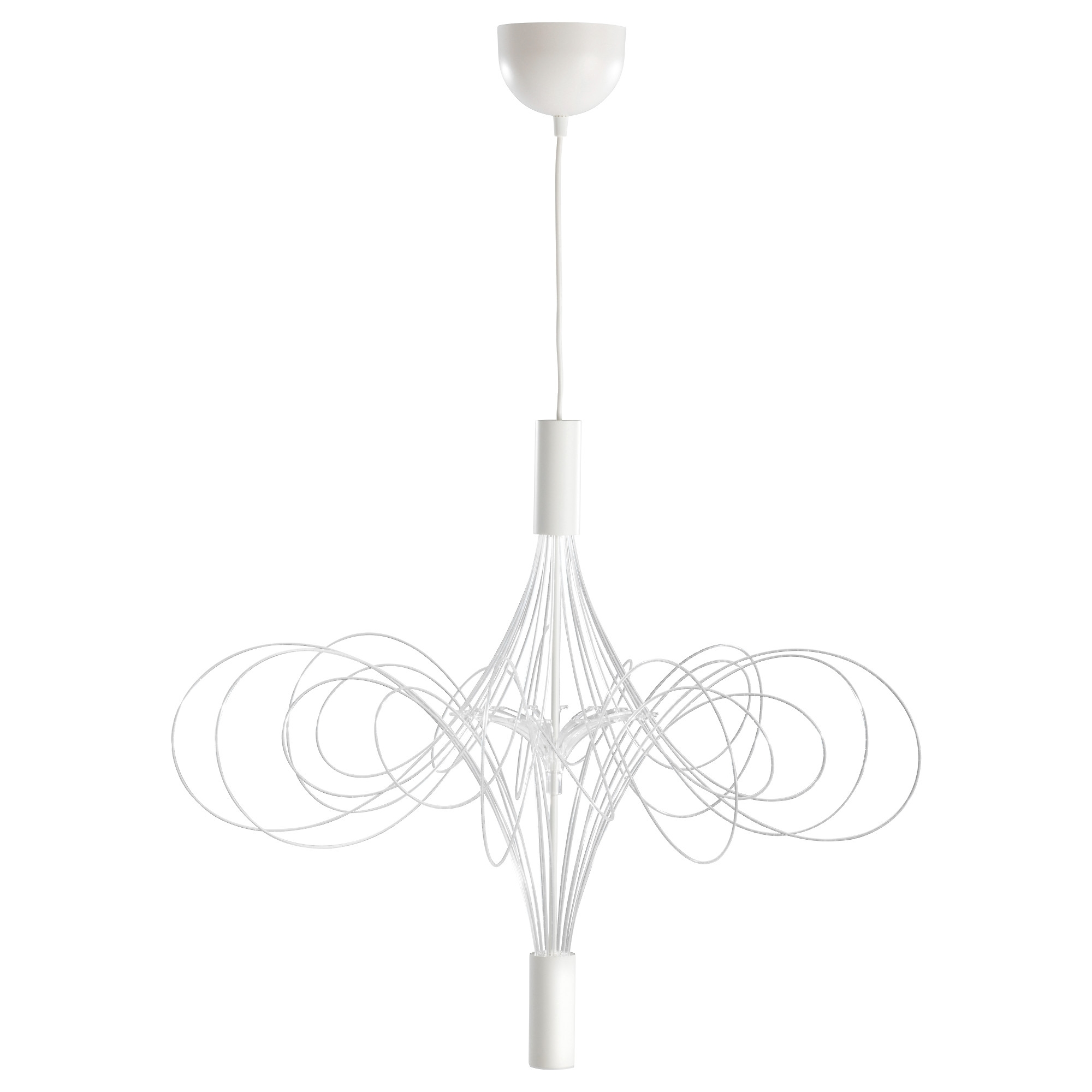 White Chandelier Throughout Fashionable Älvsbyn Led Chandelier – Ikea (View 8 of 20)