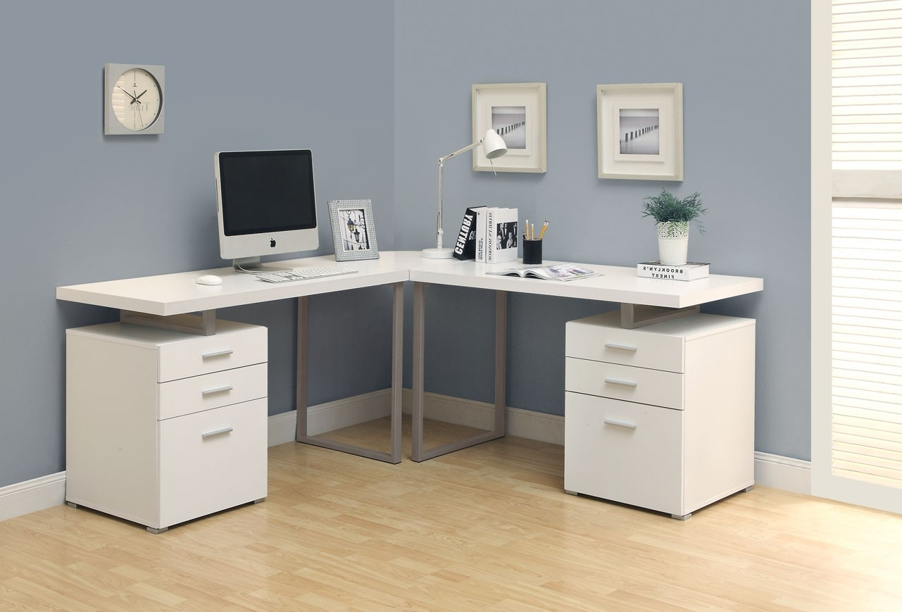 White Computer Desks Inside Fashionable Corner Computer Desk With Hutch For Home — Dans Design Magz (View 18 of 20)