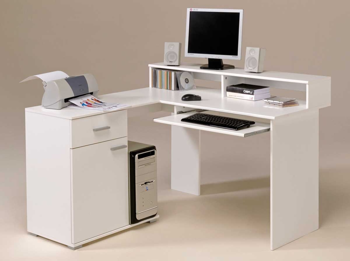 White Computer Desks Regarding Best And Newest White Modern Secretary Desk — Dans Design Magz : Style Of Modern (View 16 of 20)