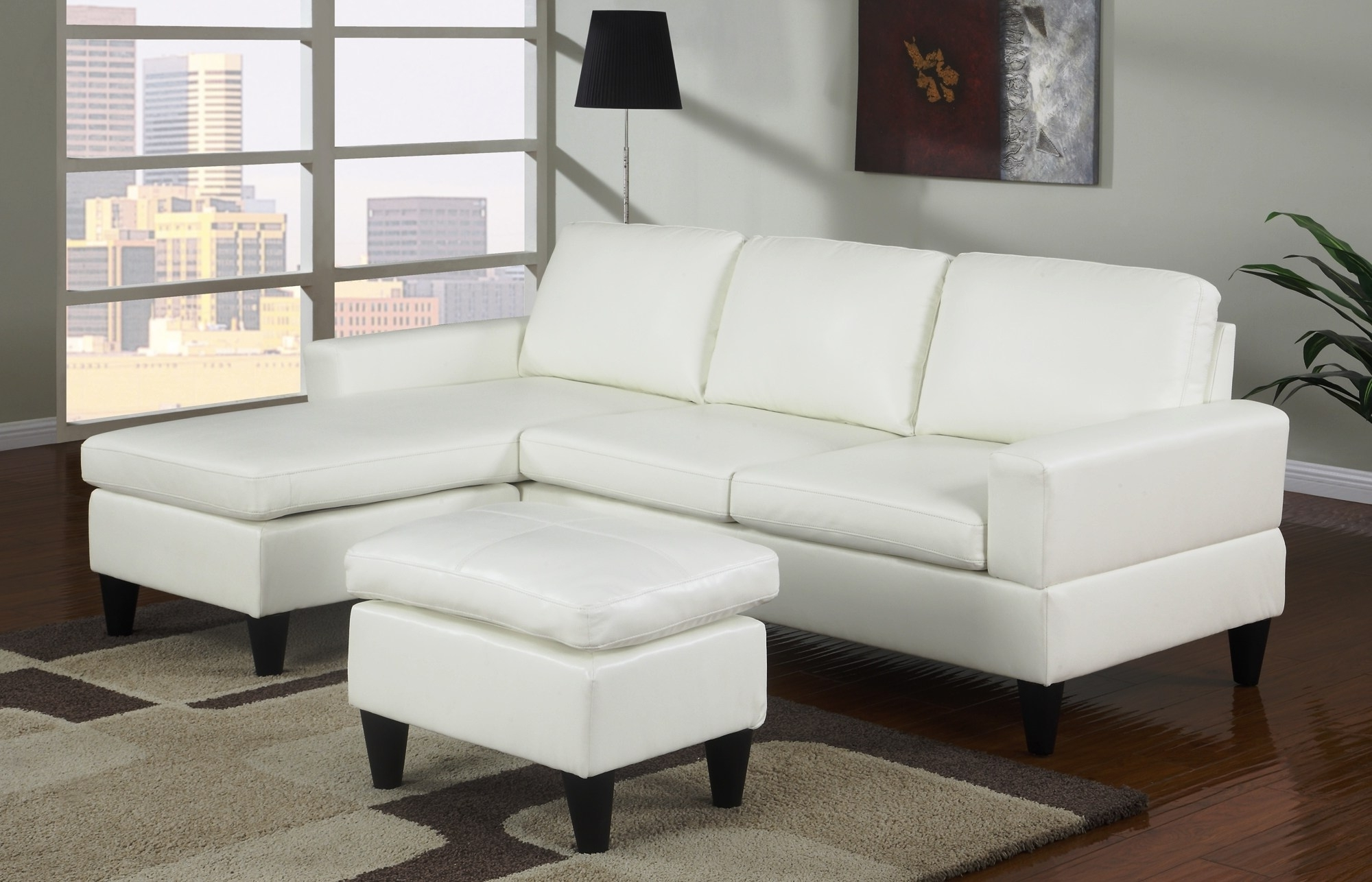 White Leather Corner Sofas For Popular Divani Casa Roslyn Modern White Sofa Leather Linx Set Madrid (View 15 of 20)