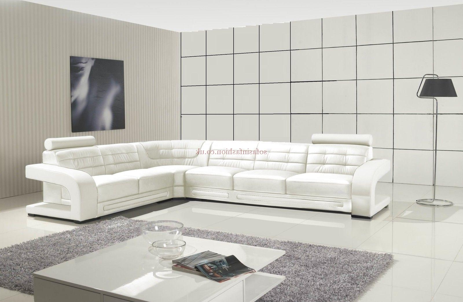 White Leather Corner Sofas Pertaining To Well Known Modern Style White Corner Sofa With White Leather Corner Sofa (View 17 of 20)