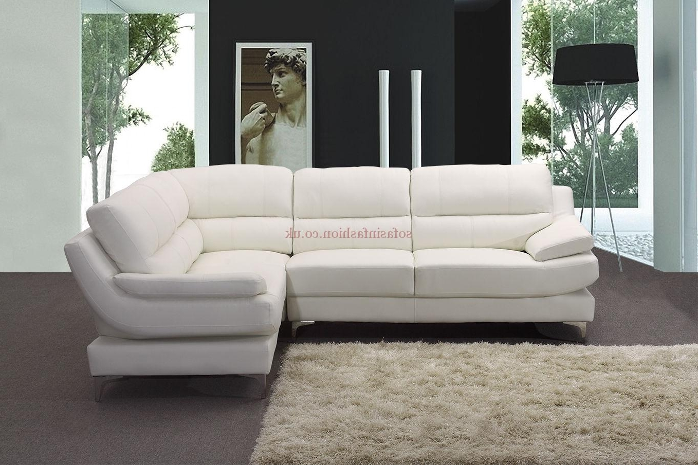 White Leather Corner Sofas With Regard To Well Known Corner Sofa Leather With Corner Sofa White Leather Monza Isofas (View 2 of 20)