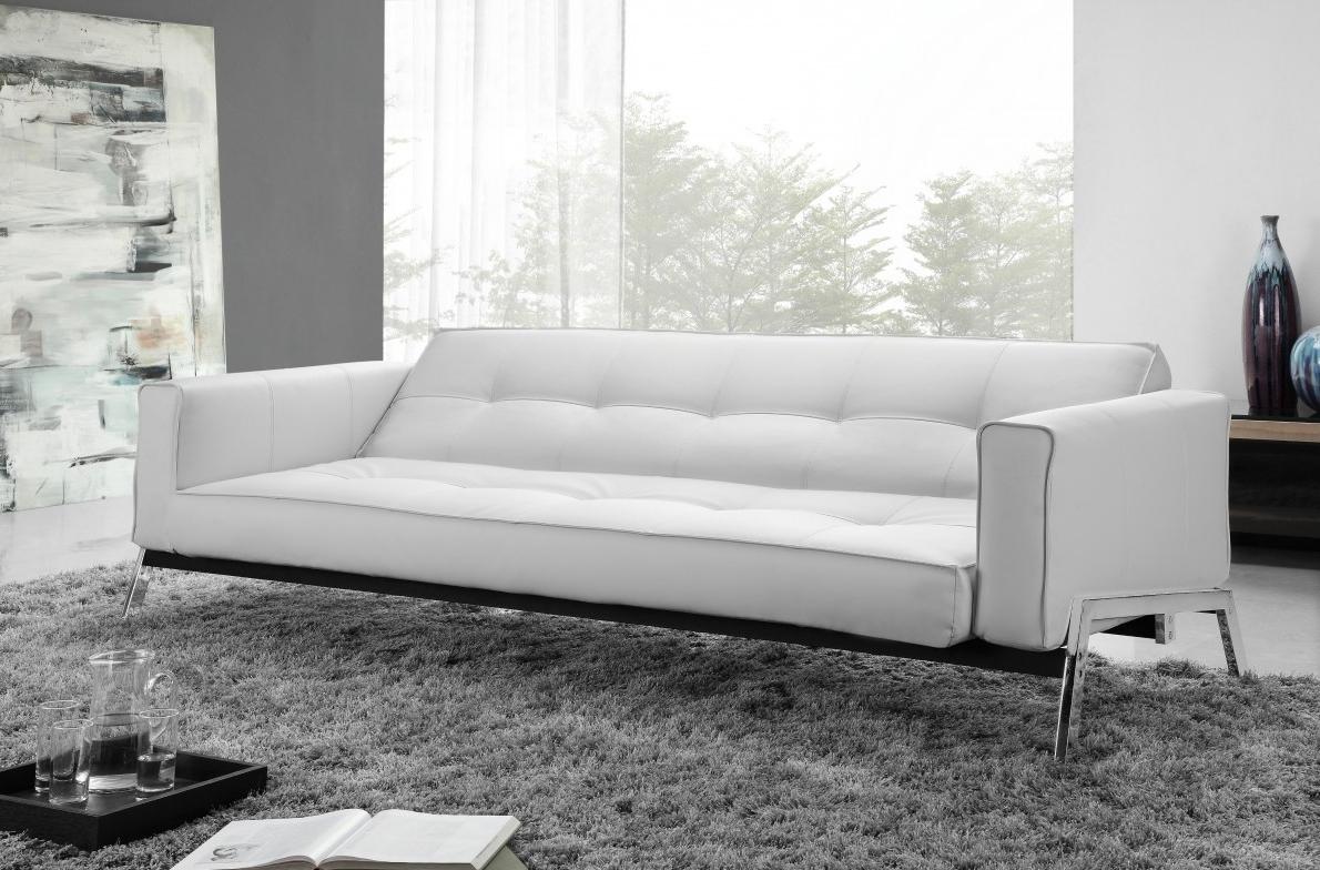 White Modern Sofas Inside Preferred Modern Sofa Bed – Universodasreceitas (Gallery 17 of 20)
