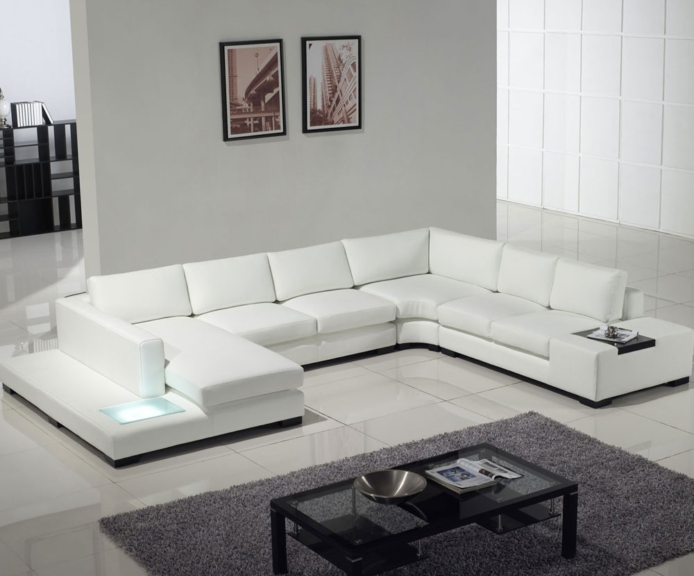 White Modern Sofas Intended For Widely Used White Contemporary Sofa Sets : Modern Contemporary Sofa Sets – All (View 10 of 20)