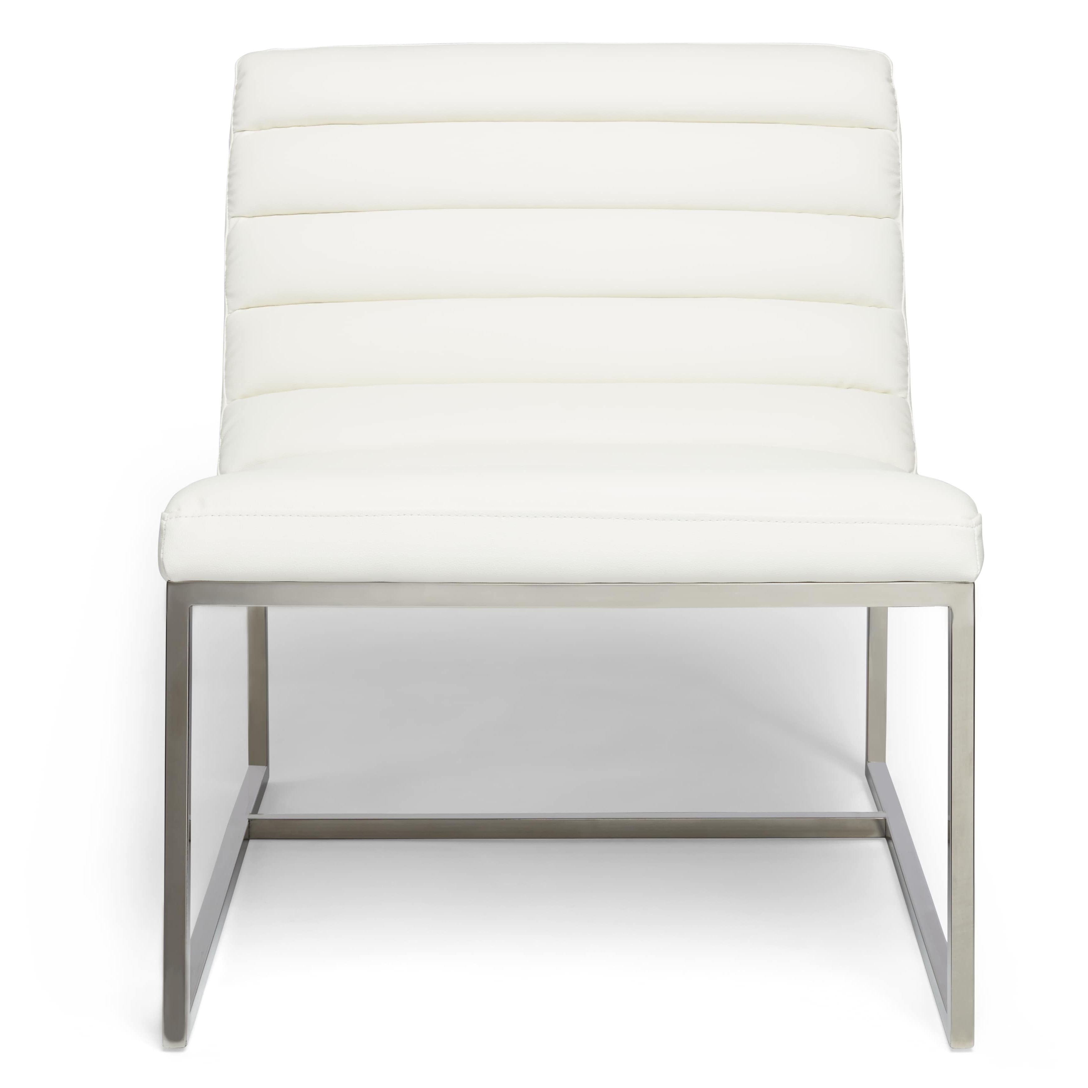 White Sofa Chairs Pertaining To Most Recently Released Parisian White Leather Sofa Chairchristopher Knight Home (View 19 of 20)