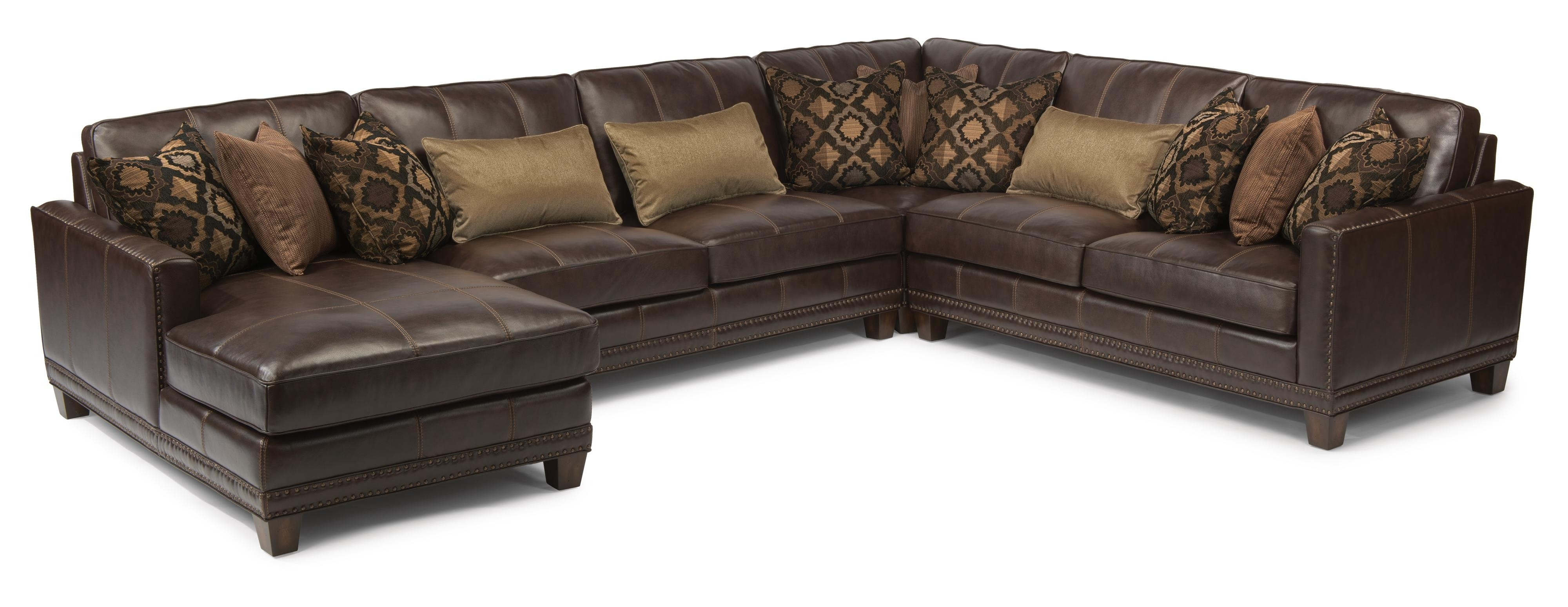 Wichita Ks Sectional Sofas With Most Up To Date Flexsteel Latitudes – Port Royal Transitional Four Piece Sectional (View 20 of 20)