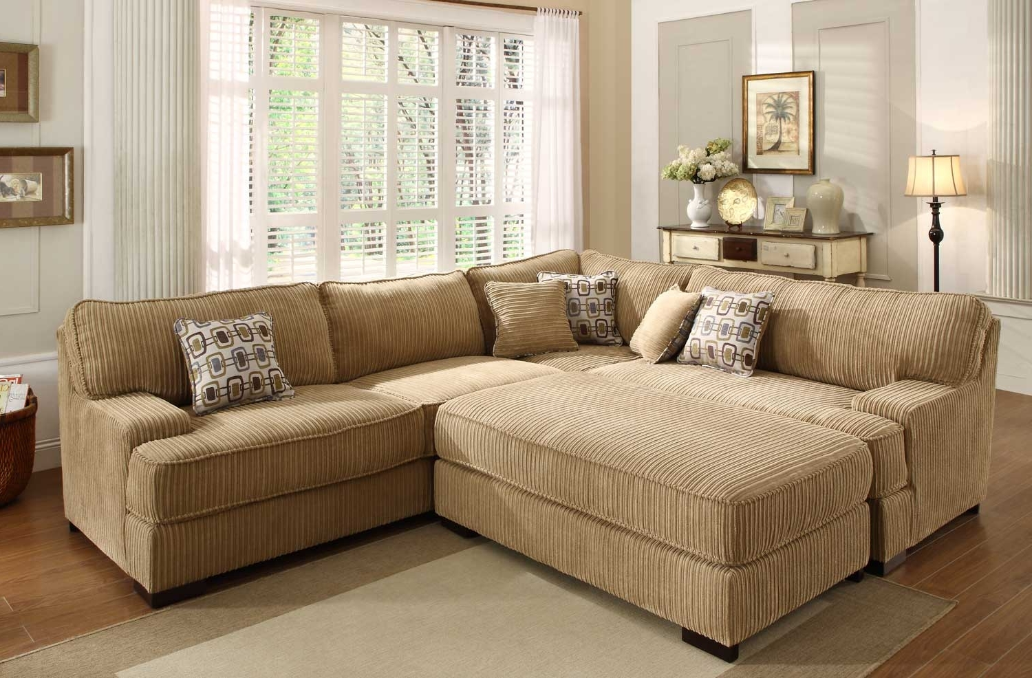 Wide Sectional Sofas With Regard To Favorite Homelegance Minnis Sectional Sofa Set – Brown U9759 Sect (View 20 of 20)