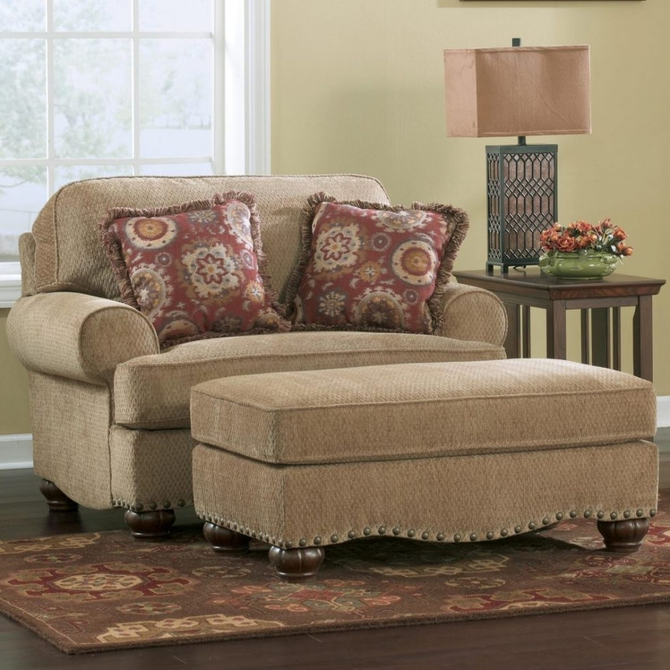 Wide Sofa Chairs Throughout Favorite Armchair : Round Ottomans Extra Wide Sofa Leather Sectionals (View 16 of 20)