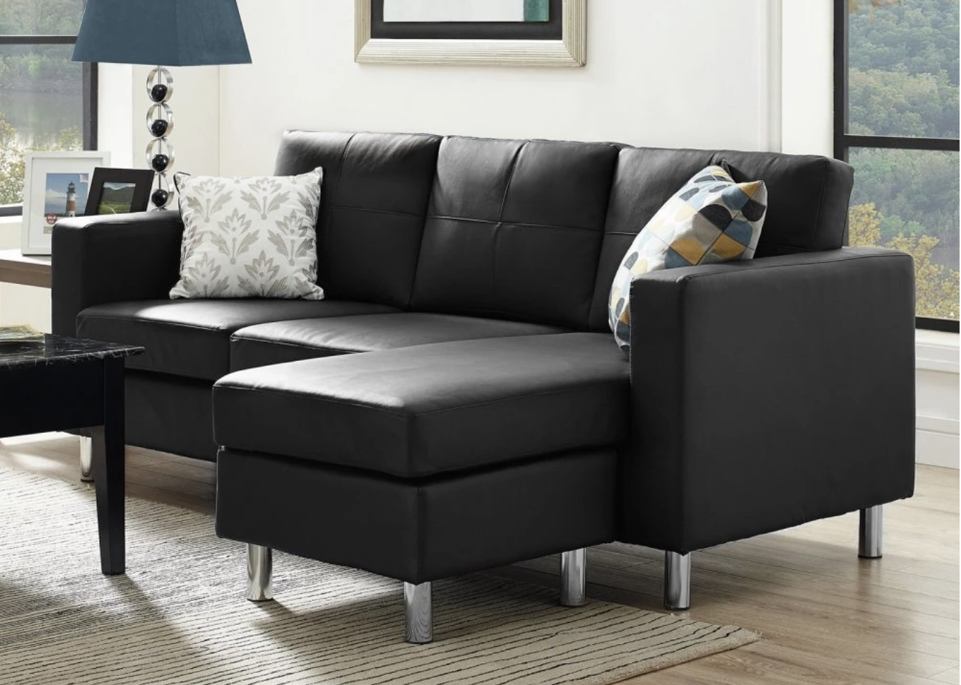 Widely Used 75 Modern Sectional Sofas For Small Spaces (2018) Intended For Black Sectional Sofas (View 15 of 20)