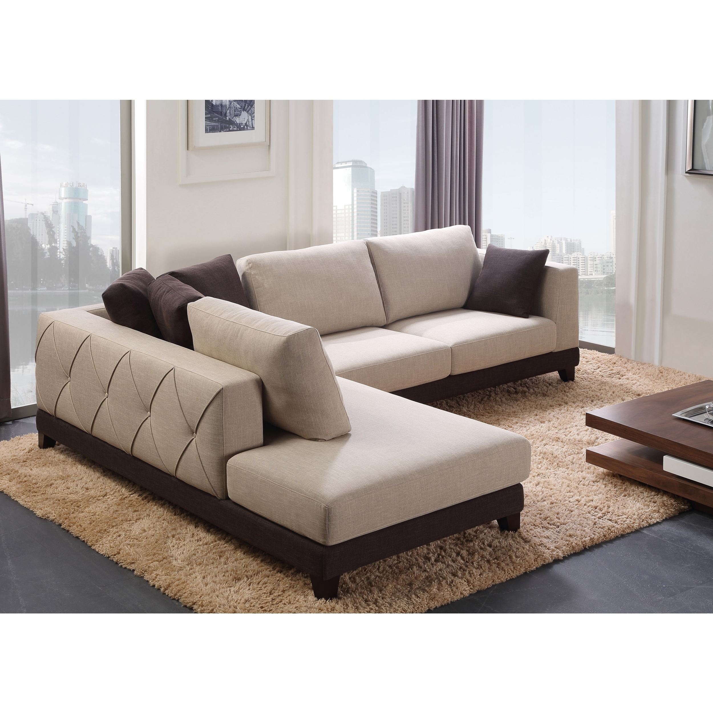 Widely Used Abbyson 'verona' Fabric Sectional Sofa – Free Shipping Today With Regard To Abbyson Sectional Sofas (View 11 of 20)