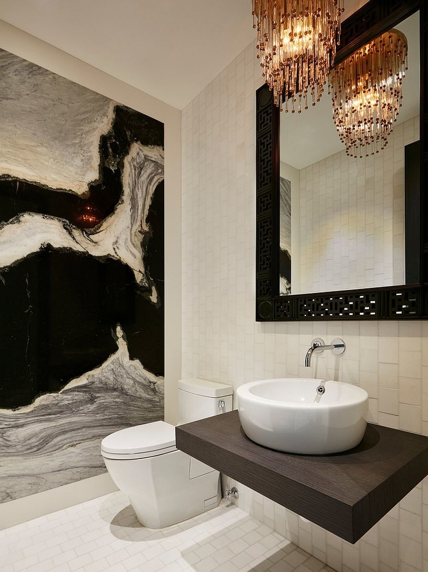 Widely Used Bathroom – Black And White Bathroom Crystal Chandelier Wall Mount Within Wall Mounted Bathroom Chandeliers (View 20 of 20)