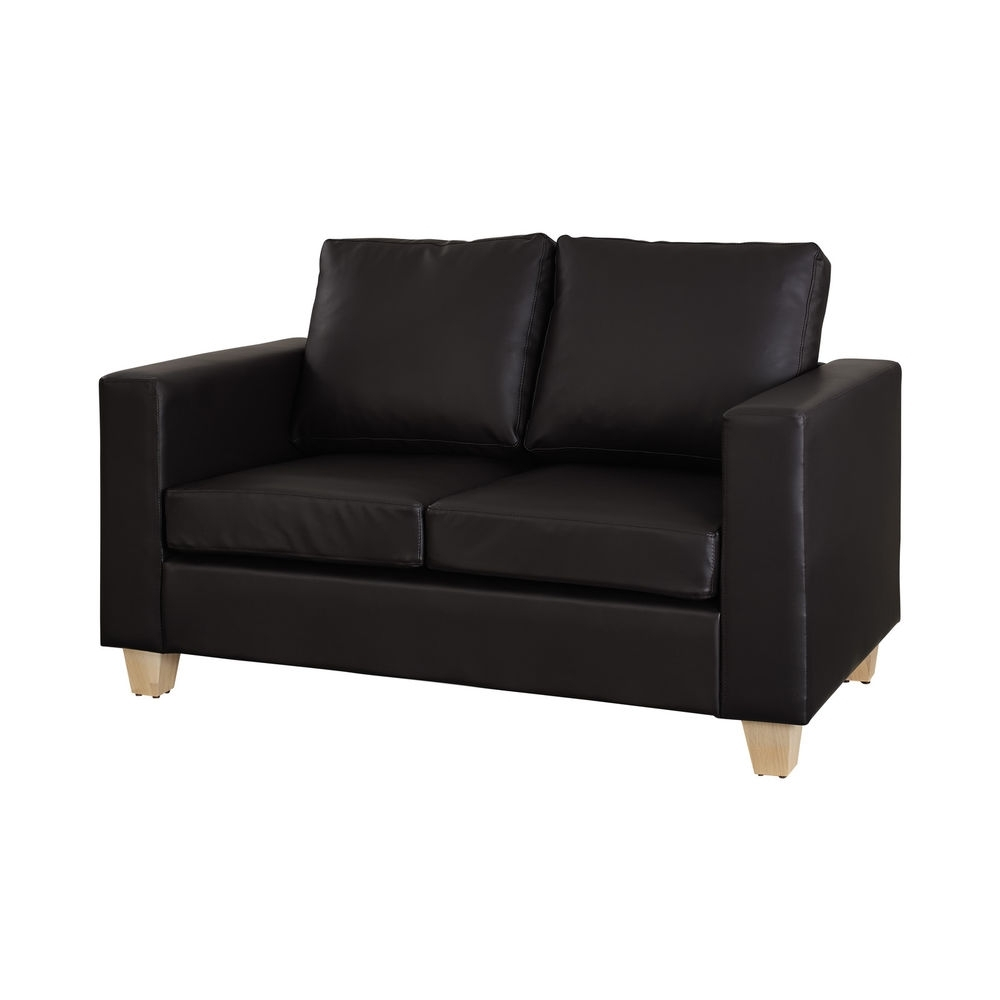Widely Used Black 2 Seater Sofas Inside 2 Seater Leather Sofa For Trendy, Smart Living Rooms (View 20 of 20)