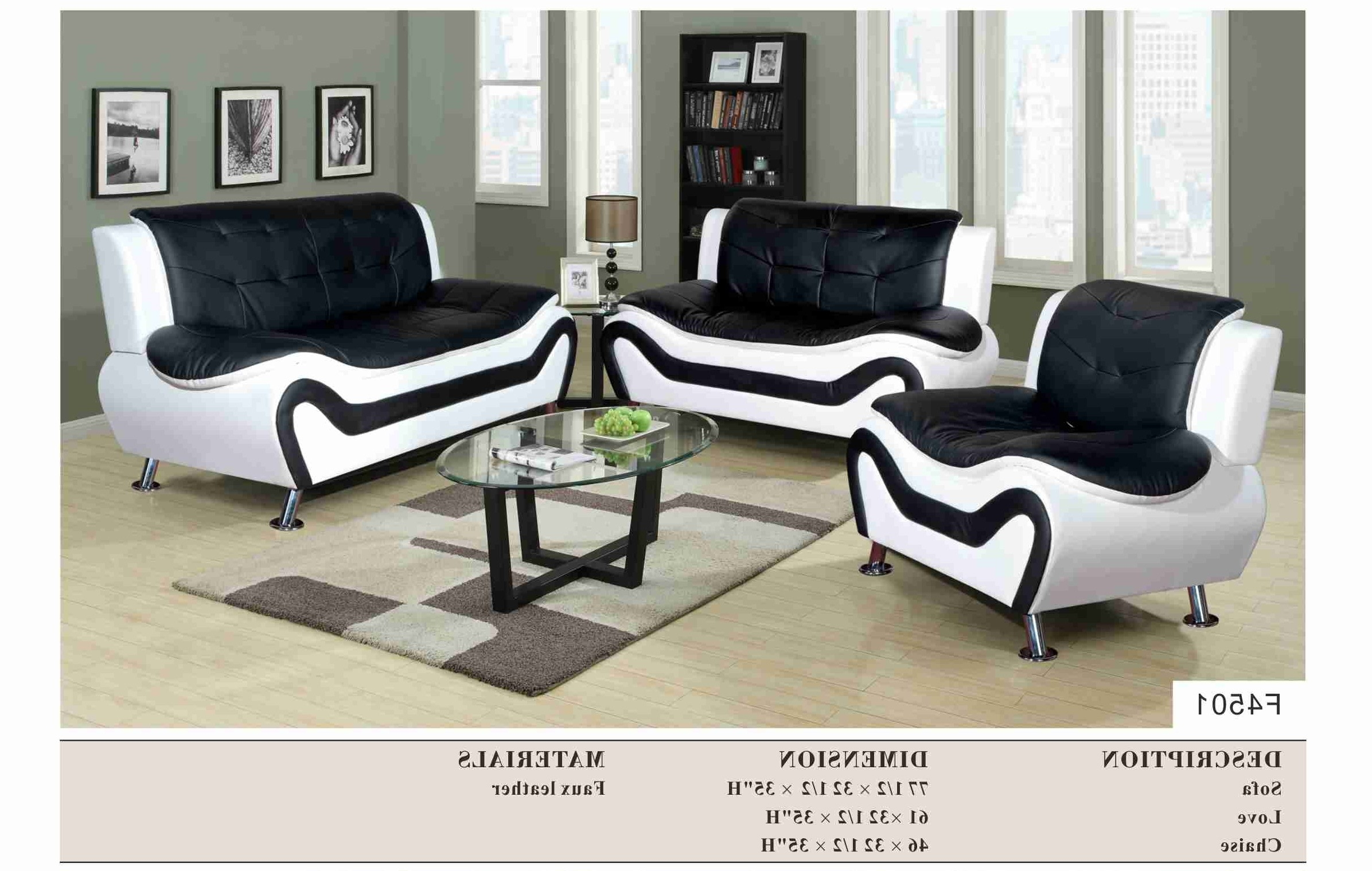 Widely Used Black And White Sofas Inside Black And White Sofas For Decor 15 – Visionexchange (View 14 of 20)