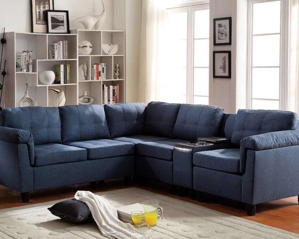 Widely Used Blue Sectional Sofa With Chaise — Radionigerialagos For Blue Sectional Sofas (View 3 of 20)