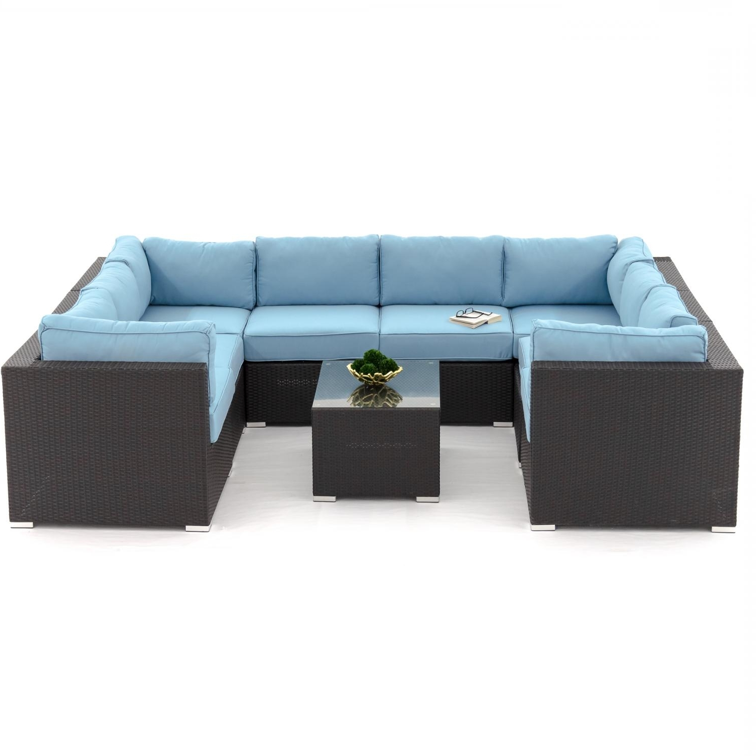 Widely Used Blue U Shaped Sectionals Intended For U Shaped Outdoor Sectional – Outdoor Designs (View 16 of 20)