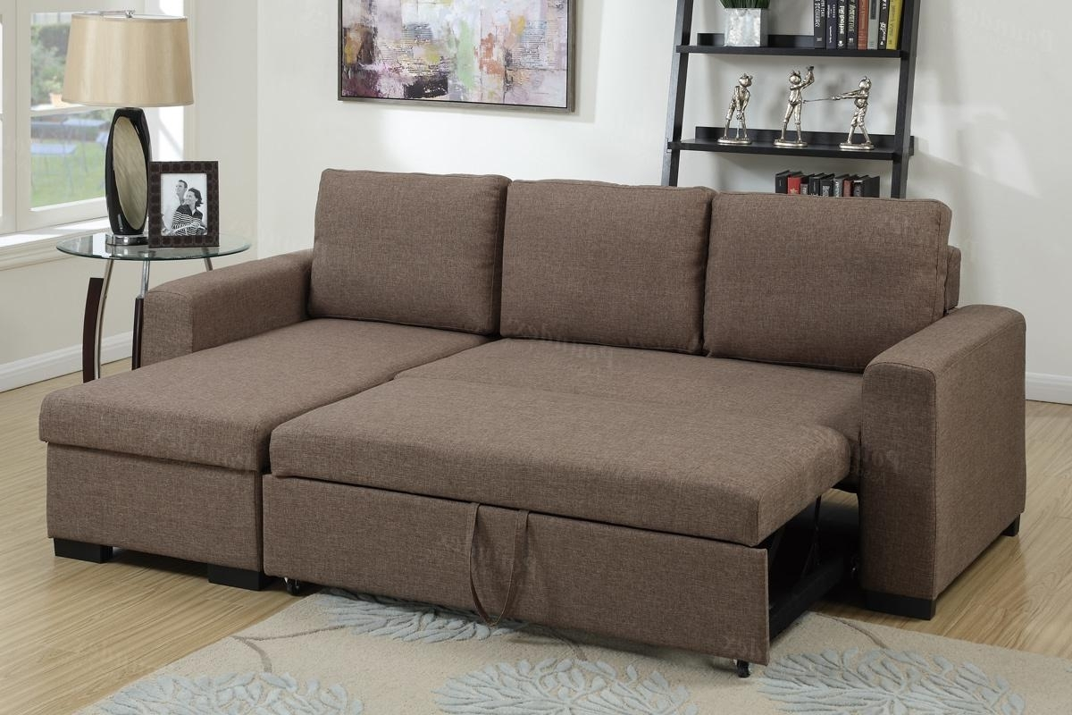 Widely Used Brown Fabric Sectional Sofa Bed – Steal A Sofa Furniture Outlet Throughout Convertible Sectional Sofas (View 20 of 20)