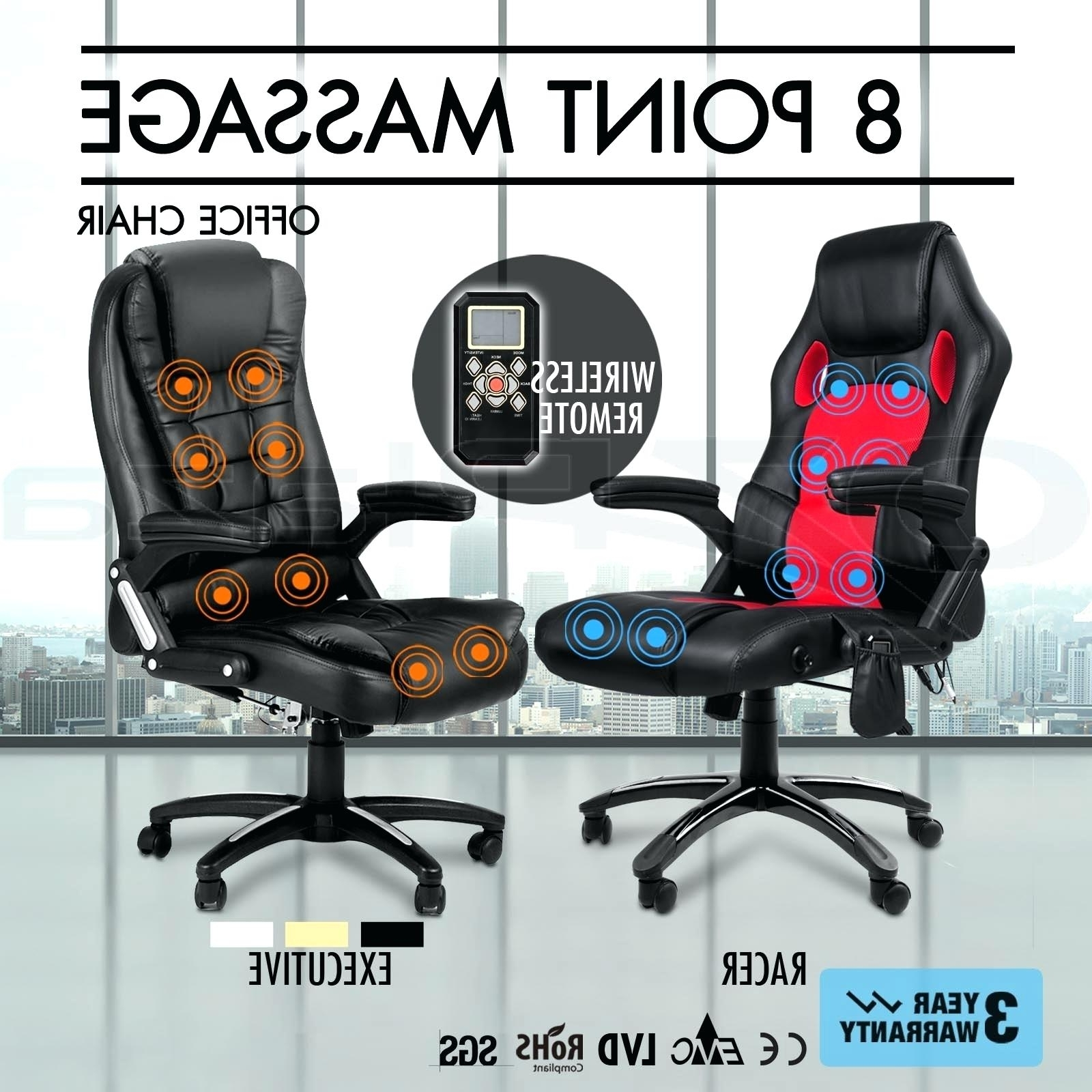 Widely Used Desk Chair ~ Massage Desk Chair Luxury 6 Point Office Computer For Executive Office Chairs With Shiatsu Massager (View 20 of 20)