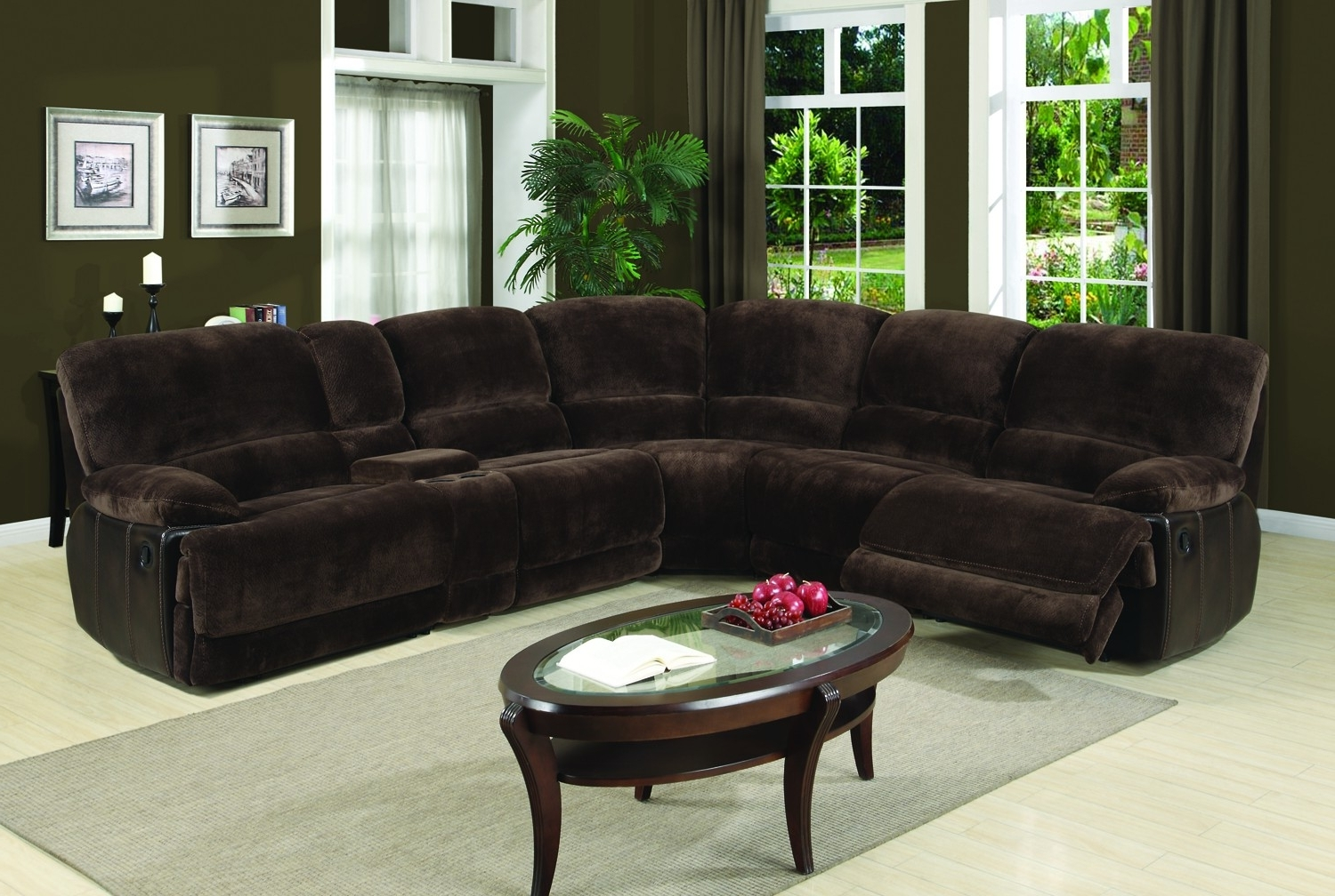Widely Used Eli Dark Brown 6 Piece Sectional Sofa For $1,698.00 – Furnitureusa Intended For Sectional Sofas That Come In Pieces (Gallery 16 of 20)