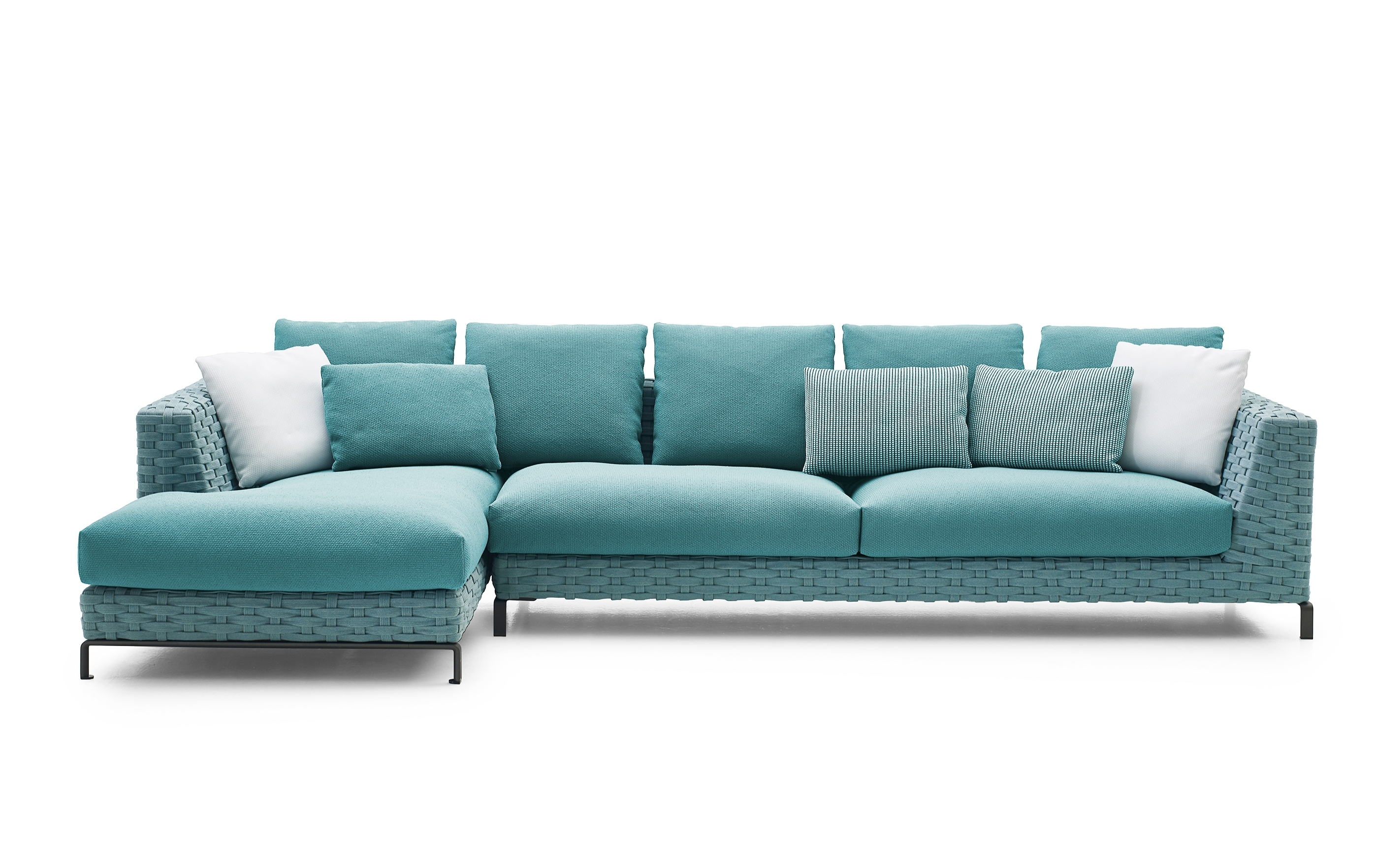 Widely Used Fabric Corner Sofas For Ray Outdoor Fabric Corner Sofab&b Italia (Gallery 13 of 20)