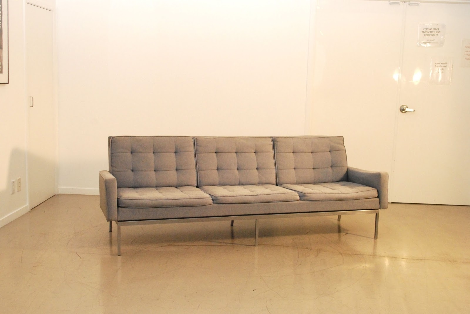 Widely Used Florence Sofas Inside Classic Design: Before & After: Vintage Florence Knoll Sofa (View 15 of 20)