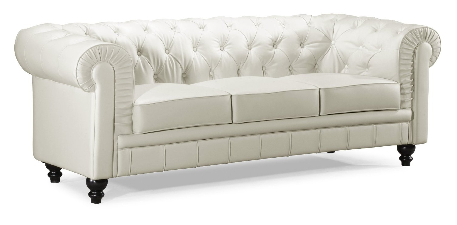 Widely Used Fresh Perfect White Tufted Sofa #25715 With Off White Leather Sofas (View 19 of 20)