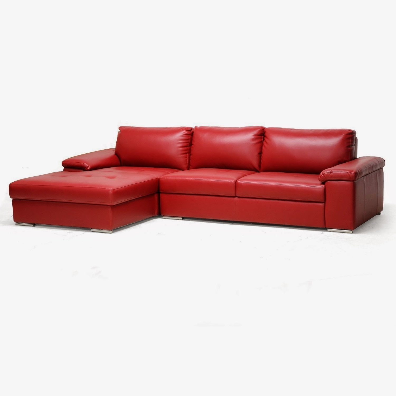 Widely Used Furniture: Modern L Shaped Red Leather Couches For Cool Living  With Red Leather