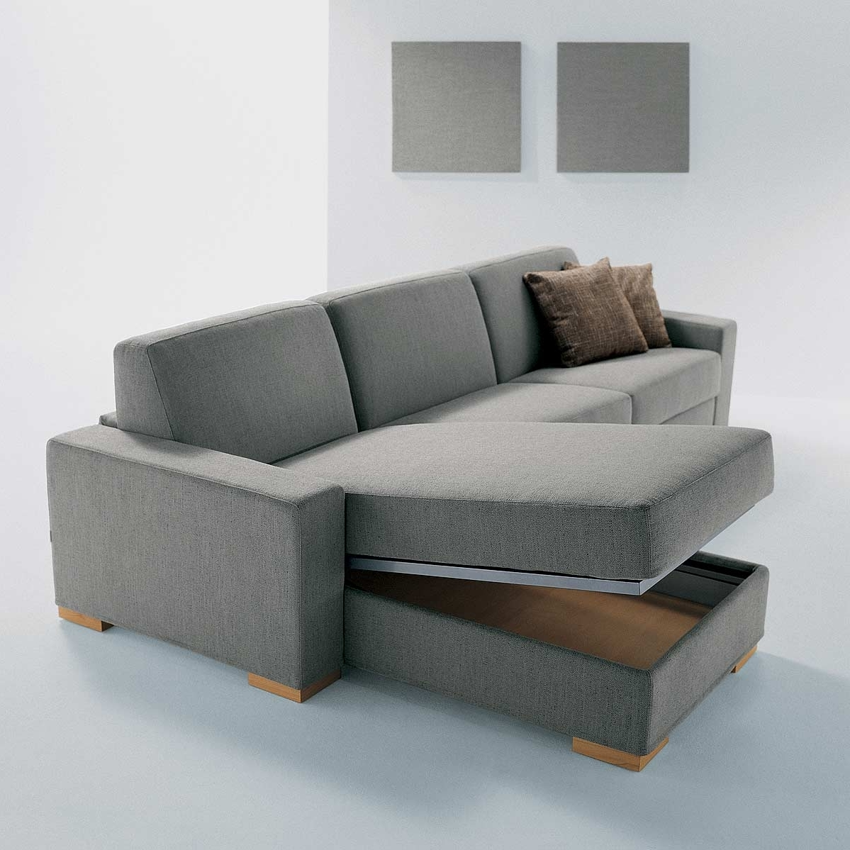 Widely Used Furniture : Sofa With Drawers Fabric Sectional Sofas With Chaise In Sectional Sofas With Storage (View 10 of 20)