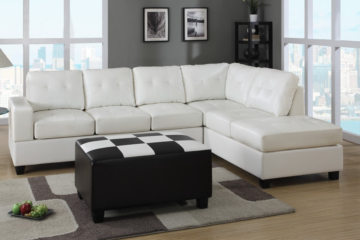 Widely Used Furniture: White Leather Sectional Sleeper Sofa Be Equipped With For Sectional Sleeper Sofas With Ottoman (View 20 of 20)
