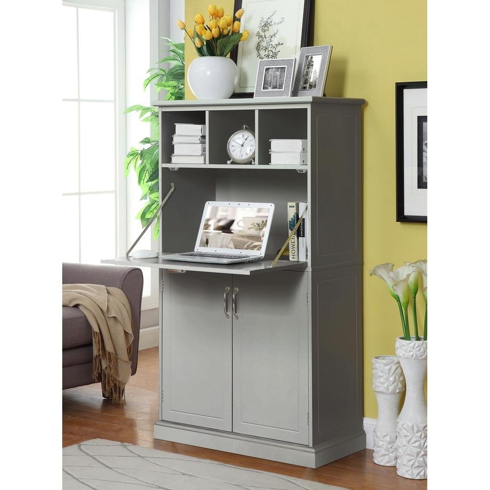 Widely Used Home Decorators Collection Amelia Light Grey Storage Wooden In Grey Computer Desks (View 11 of 20)