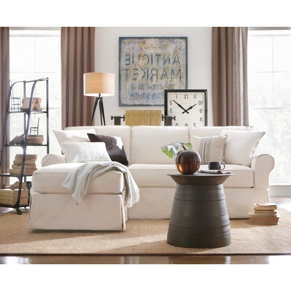 Widely Used Home Depot Sectional Sofas Inside Home Decorators Collection Mayfair 2 Piece Linen Pearl Sectional (View 19 of 20)
