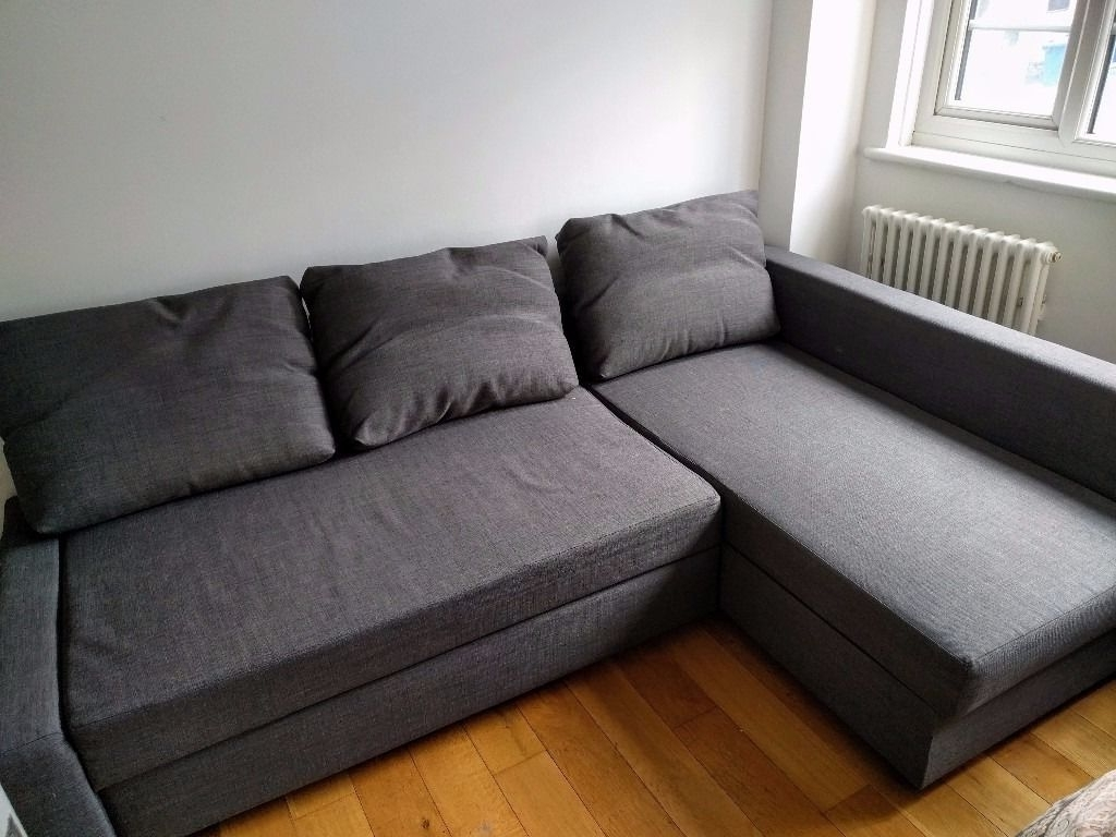 Widely Used Ikea Corner Sofas With Storage Regarding Ikea Corner Sofa Bed With Storage (Friheten, Skiftebo Dark Grey (Gallery 10 of 20)