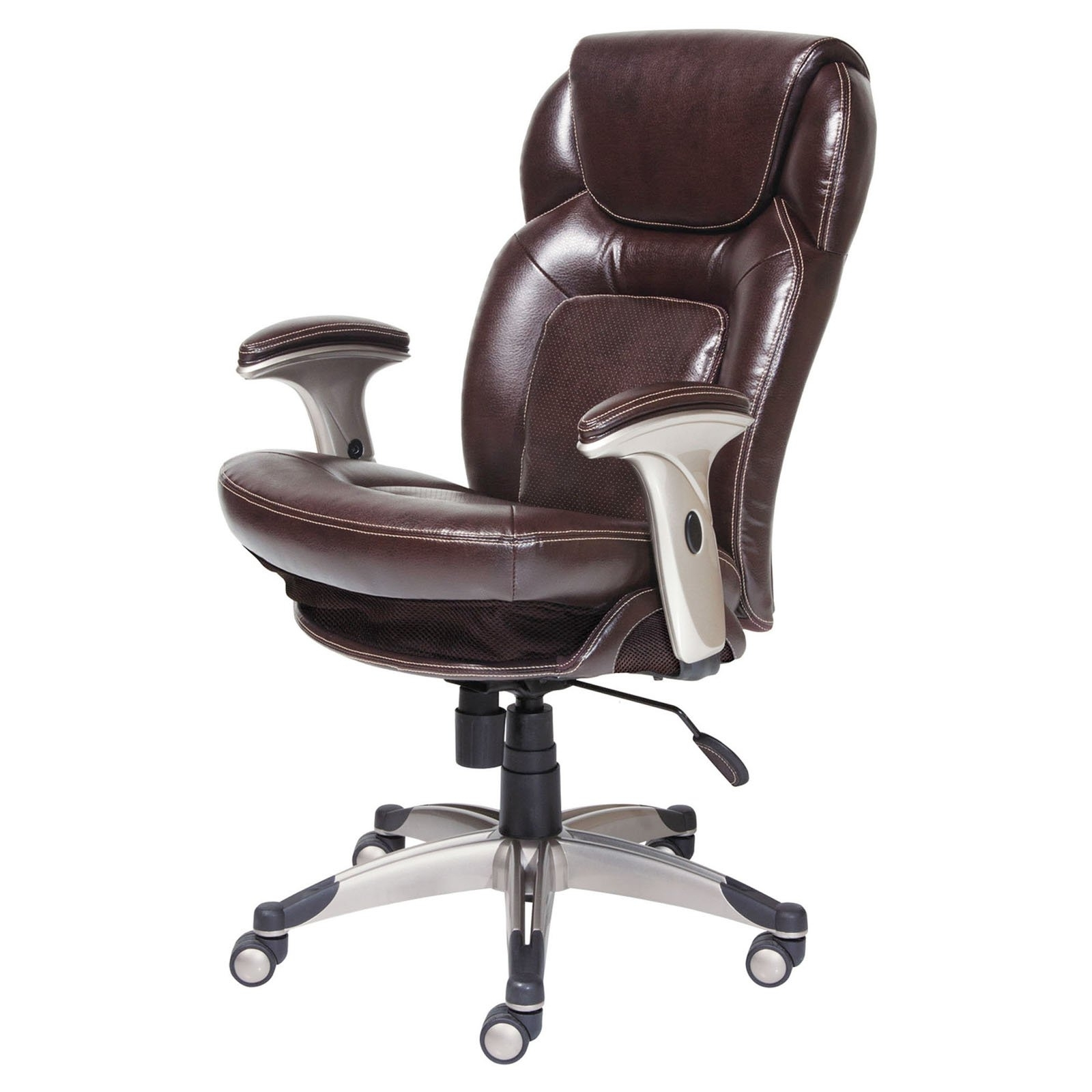 Widely Used Lane Executive Office Chairs Within Serta Air Health & Wellness Eco Friendly Bonded Leather Executive (View 16 of 20)