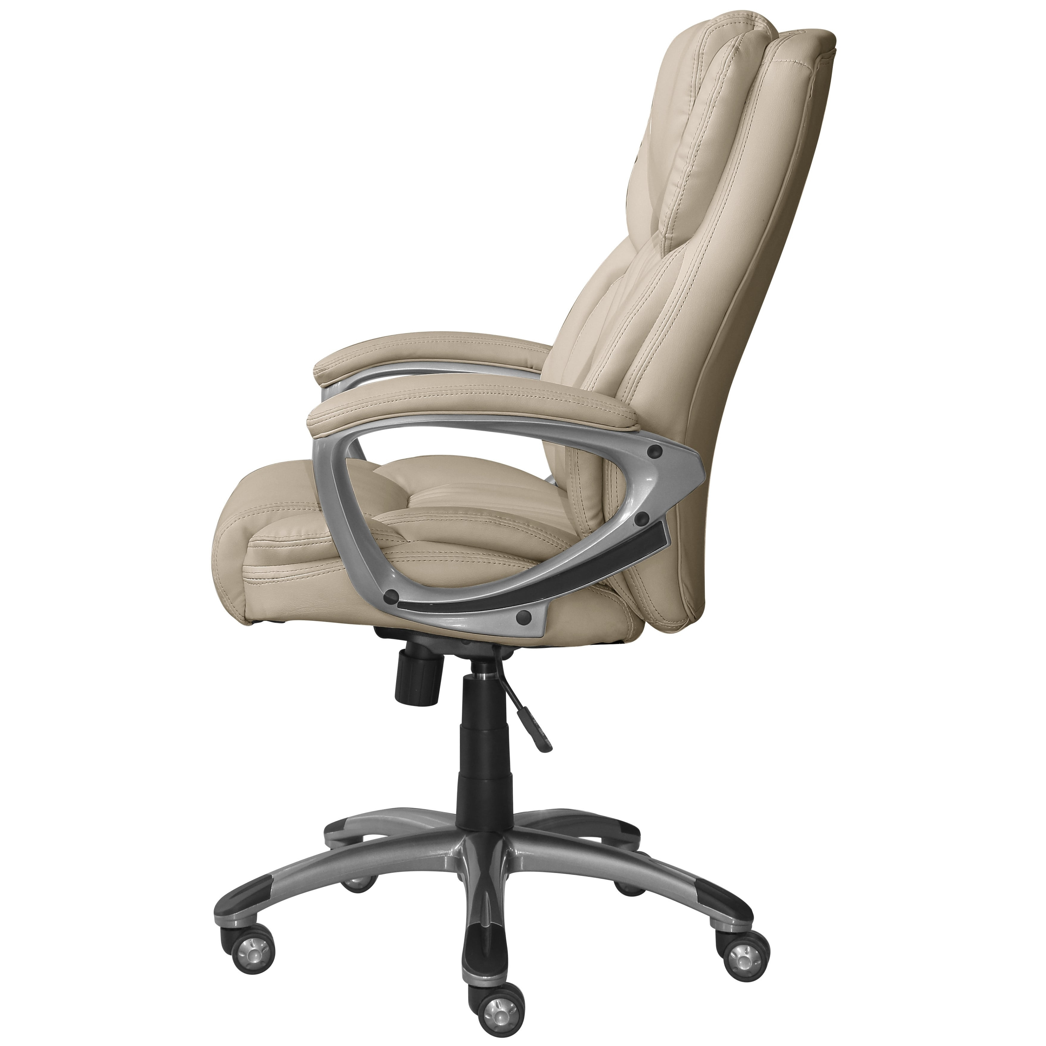 Widely Used Light Beige Microfiber Executive Office Chairs With Regard To Serta Works Bonded Leather Executive Office Chair – Free Shipping (View 10 of 20)