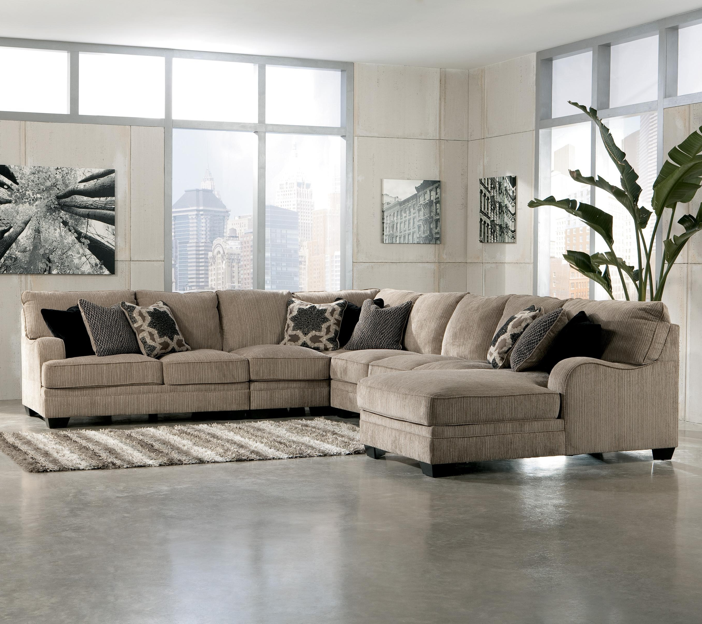 Widely Used Living Room Sectional: Katisha 4 Piece Sectionalashley Intended For Sectional Sofas At Ashley (View 20 of 20)