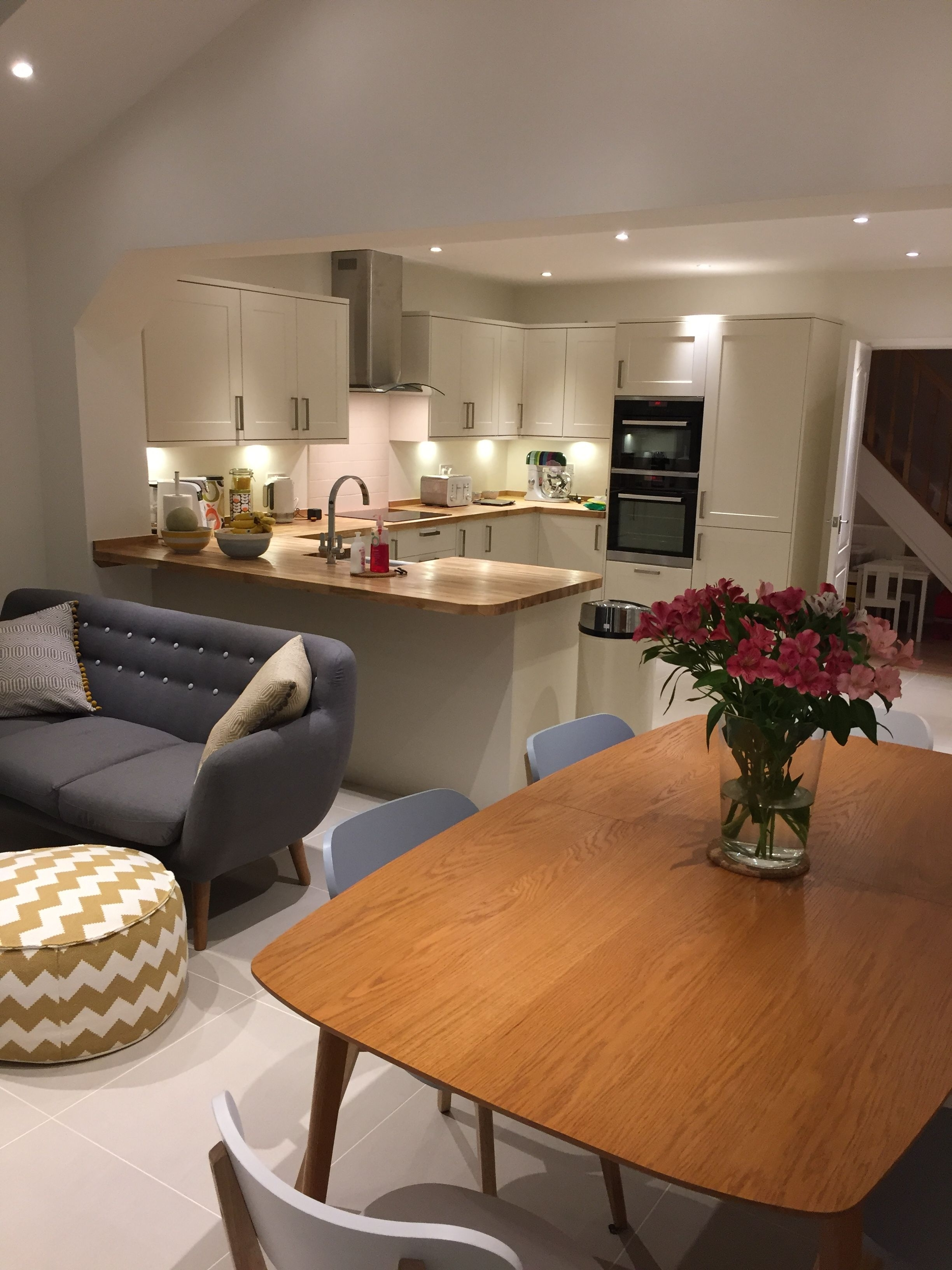 Widely Used My Open Plan Kitchen, Dining And Family Area (View 9 of 20)