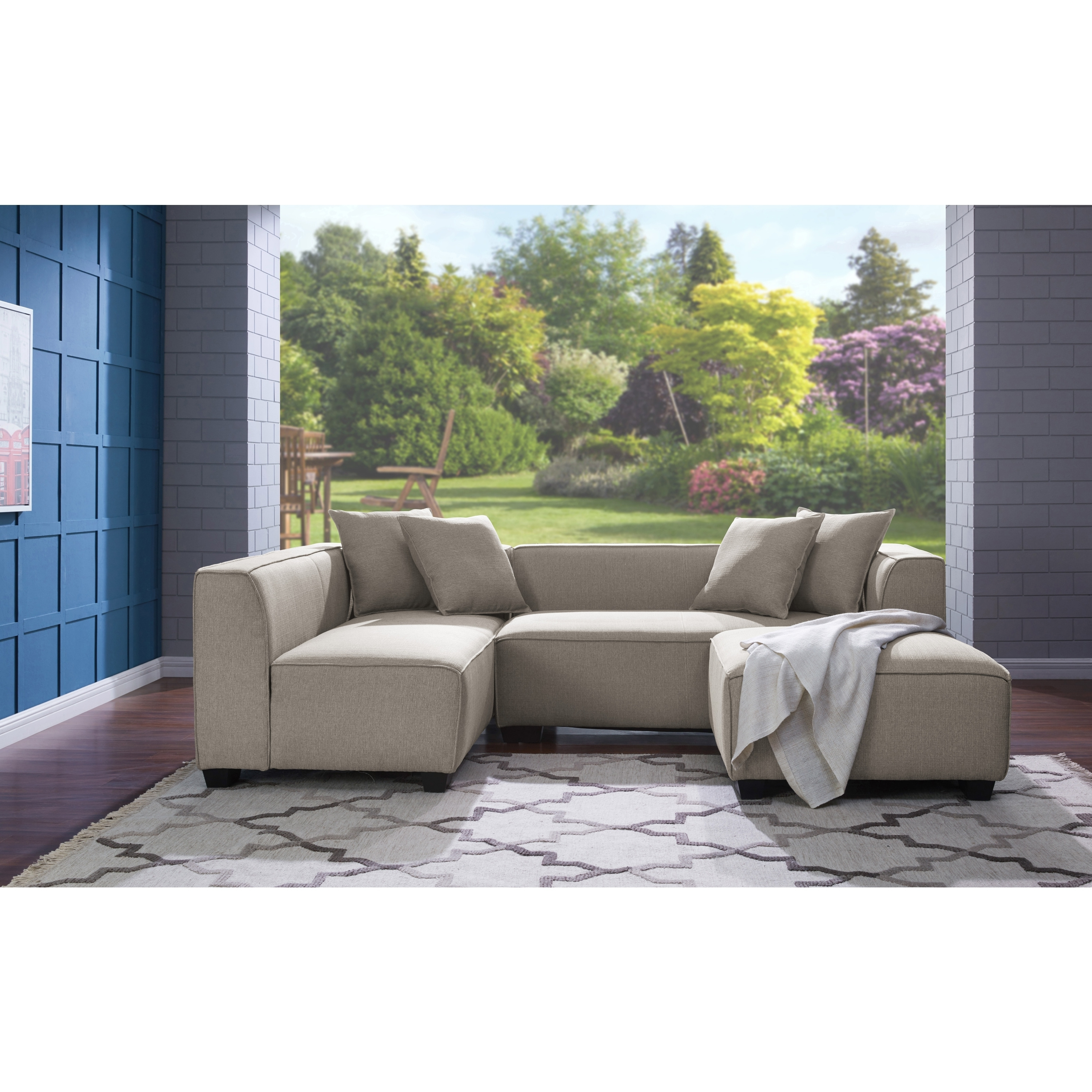 Widely Used Phoenix Sectional Sofas With Handy Living Phoenix Barley Tan Sectional Sofa With Ottoman – Free (View 20 of 20)